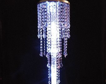 12 Glamorous Column Enchanted Chandelier with Battery