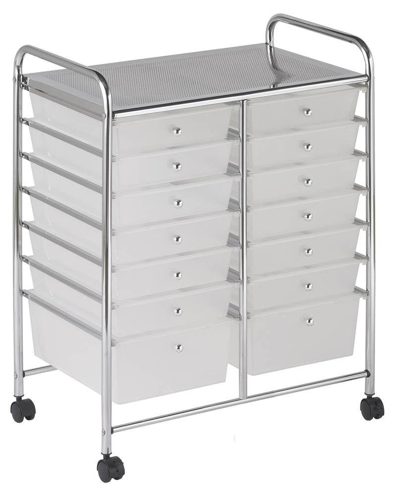 15 Drawer Mobile Organizer Walmart Com Mobile Organization Storage Drawers White Storage
