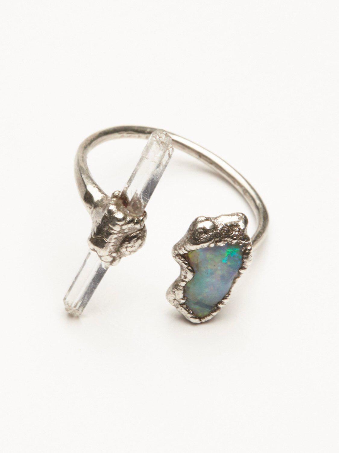Inner Compass Raw Stone Ring Raw stone jewelry, Stone