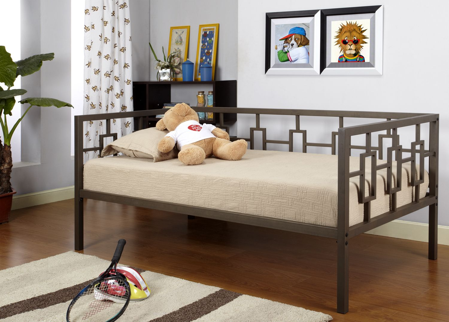 Details about Twin Size Metal HiRise Day Bed (Daybed