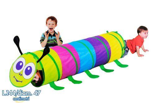 Tunnel Bambini ~ Tunnel tenda gioco bruco per bambini b casetta casa mare giardino