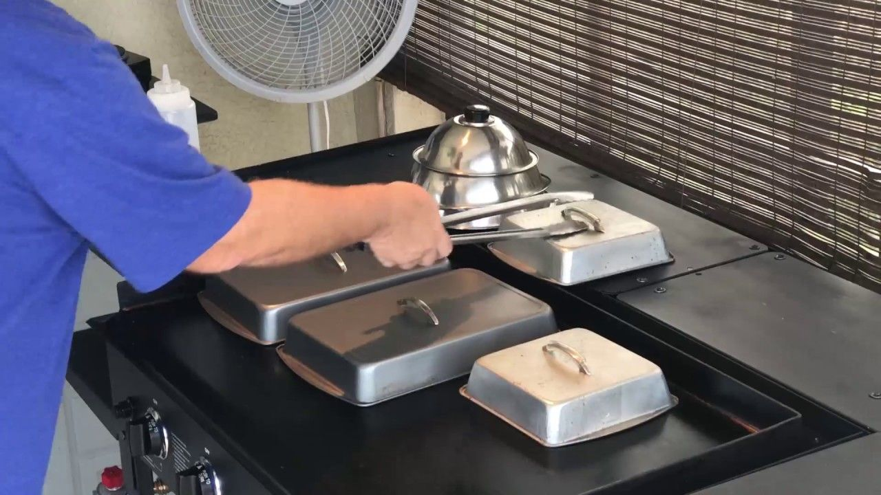 Evolution Of The Lids Steam Cooking On The Blackstone Griddle Blackstone Griddle Griddle