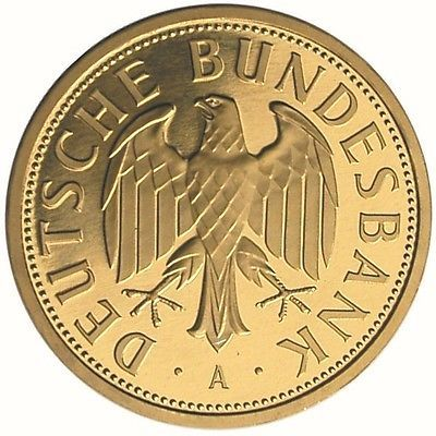 Goldmünze GOLDMARK 1DM Gold 2001 Deutsche Bundesbank A
