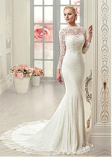 Amazing Tulle Bateau Neckline Mermaid Wedding Dresses With Lace Appliques
