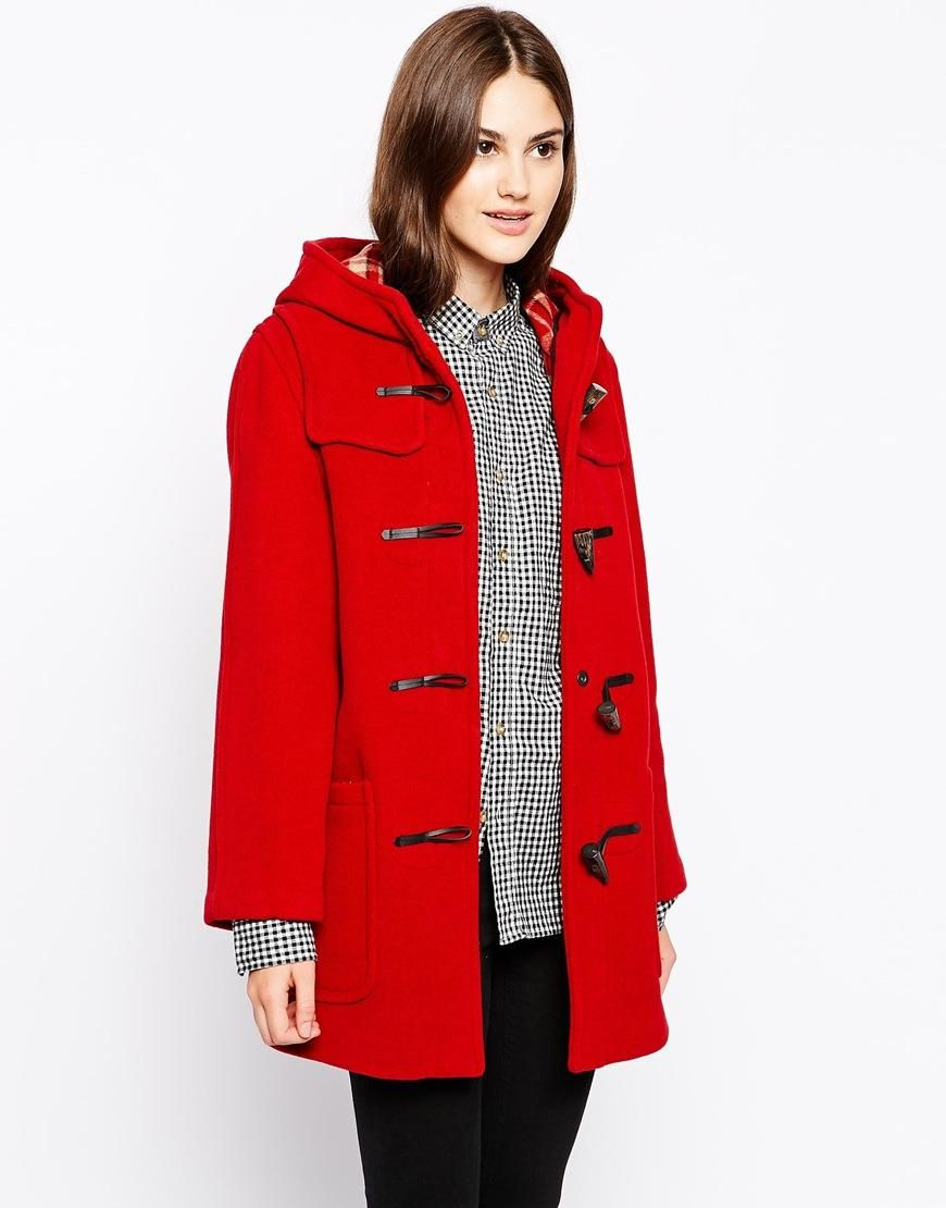 Gloverall | Gloverall Longline Hooded Duffle Coat at ASOS ...