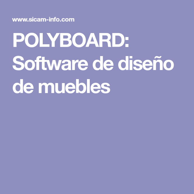 POLYBOARD: Software de diseño de muebles | Design online Kitchen ...