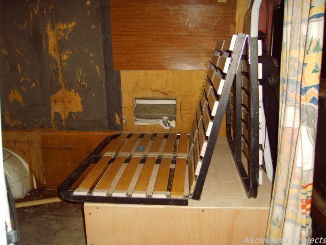 am nag lit 3 places am nagement fourgon pinterest. Black Bedroom Furniture Sets. Home Design Ideas