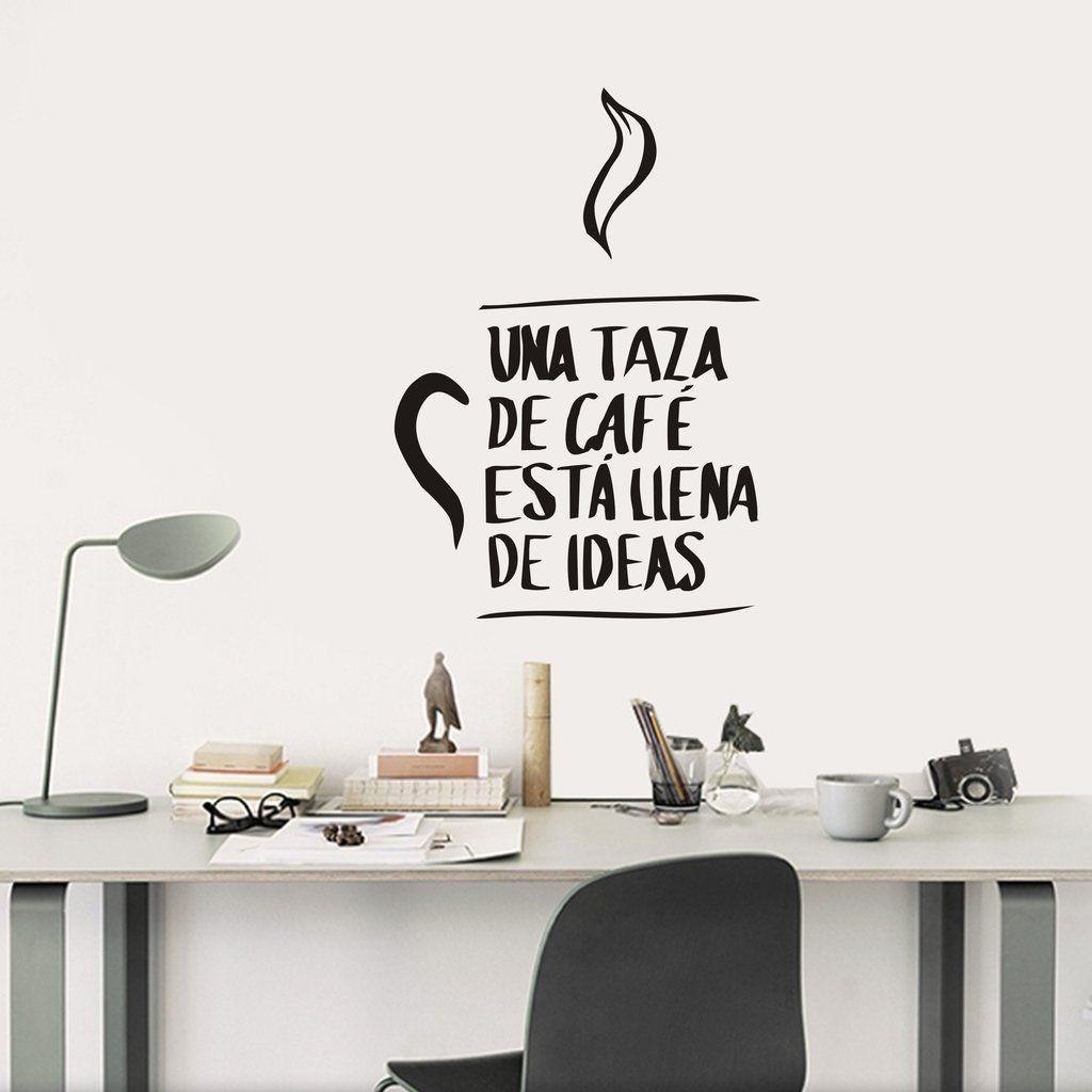 Fr24 una taza de caf est llena de ideas vinilo for Vinilos decorativos blancos