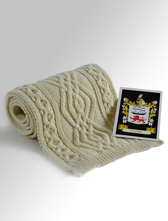 O'Leary Clan Scarf   Wool scarf, Aran sweater