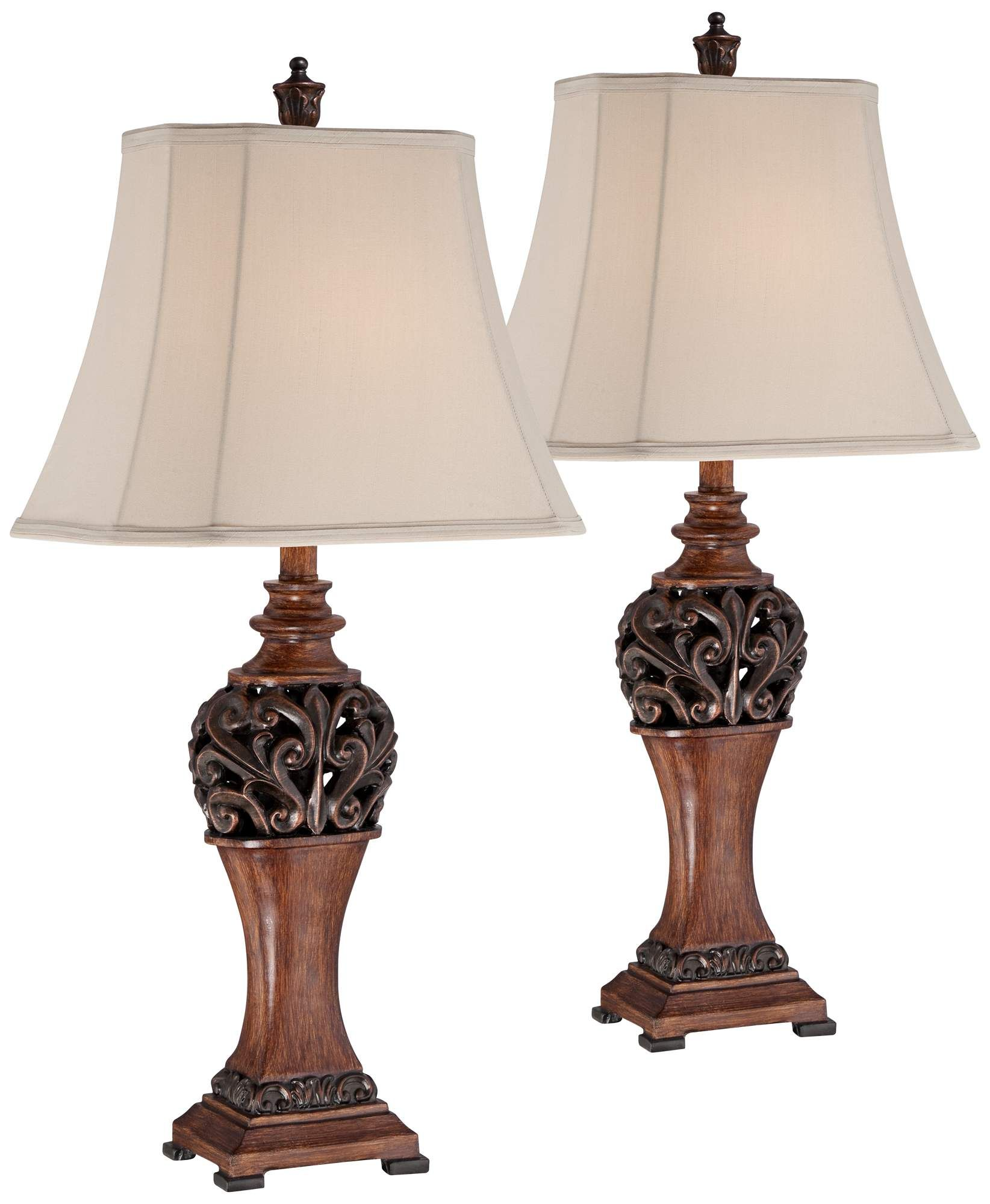 Table Lamps Exeter 30 High Wood Finish Table Lamps Set Of 2 Table Lamp Wood Traditional Table Lamps Bronze Table Lamp