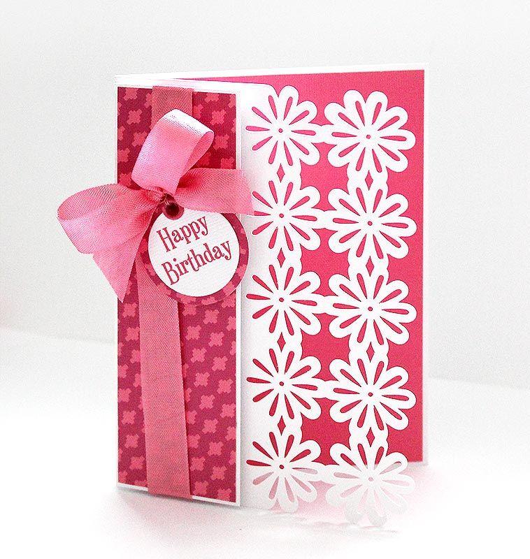 Deep Edge Card 9 Cricut Birthday Cards Birthday Card Template