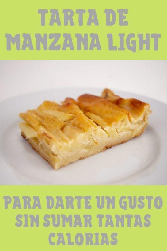 Tarta De Manzana Light Para Darte Un Gusto Sin Sumar Tantas Calorías Tarta De Manzana Light Tarta De Manzana Postre De Manzana Facil