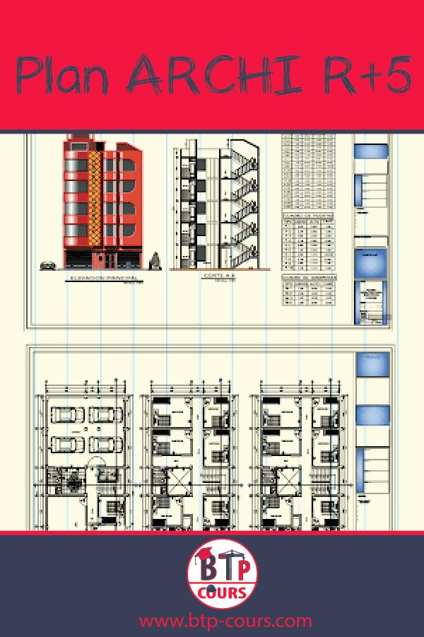 Plan Architecture Complet R 5 Telecharger Le Plan En Dwg Plan De Maison Gratuit Plan Architecte Devis Batiment