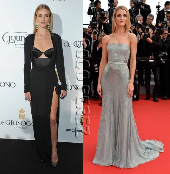 #RosieHuntington-Whiteley is dressed to kill in Cannes TWO days in a row!