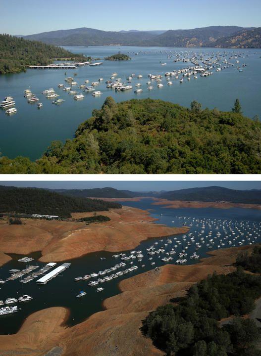 California Antes Y Después De La Sequía Destruccion Del Medio Ambiente Agua Día De La Tierra