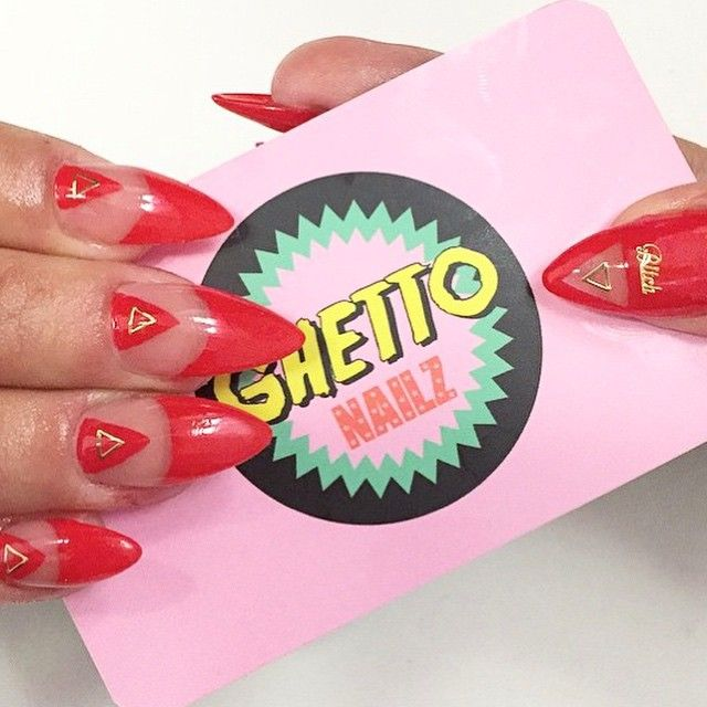 "GHETTO NAILZ on Instagram: ""Red illuminati nailz by @ghettonailz_luluview ❤️ book your appointment in Madrid ☎️666100880 ❤️"""