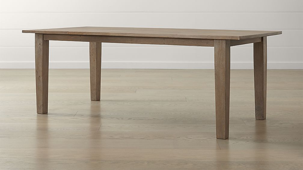 Basque Grey Wash Dining Tables Crate And Barrel Dining Table Metal Dining Chairs Dining Room Table