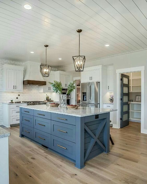 25 Kitchen Island Ideas With Seating Storage Blue Atlas