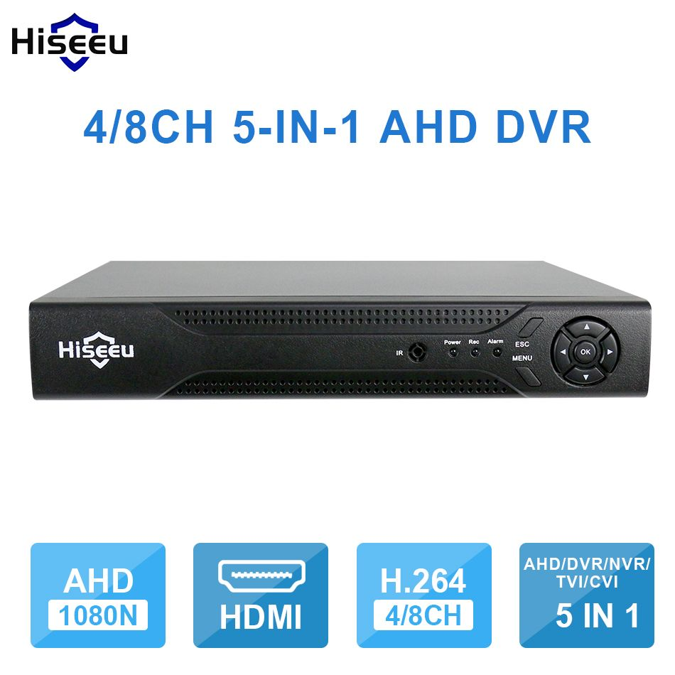 Hiseeu 4CH 8CH 1080 P 5 in 1 DVR video recorder für AHD