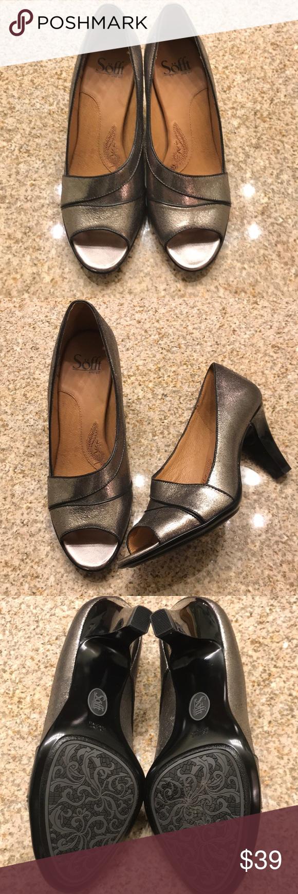 Peep toe pumps, Sofft shoes