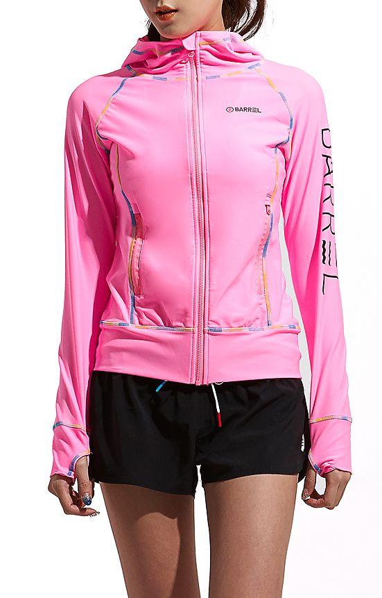 perfect ... more than perfect #getbarrel Linda zip Hood Rashguard Pink