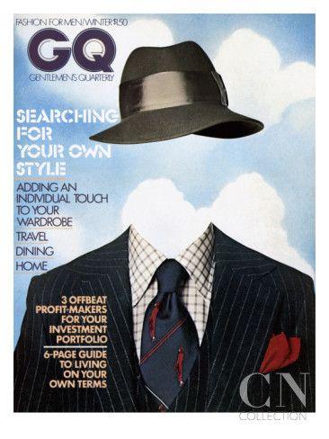 GQ Cover - December 1974 Regular Giclee Print