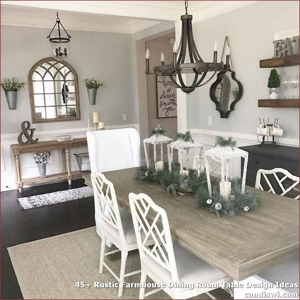 25 Awesome Traditional Dining Design Ideas: 45+ Rustic Farmhouse Dining Room Table Design Ideas