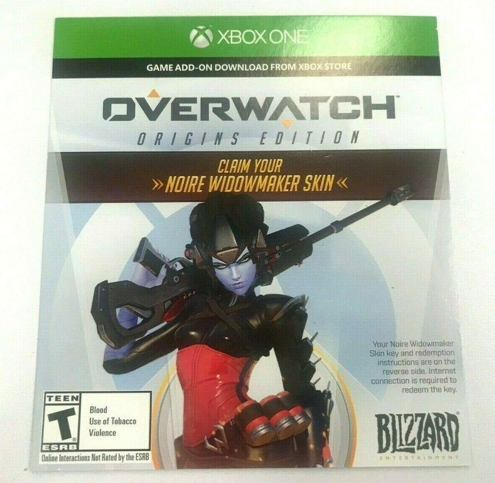 Overwatch Origins Edition - Noire WidowMaker Skin - XBOX ONE