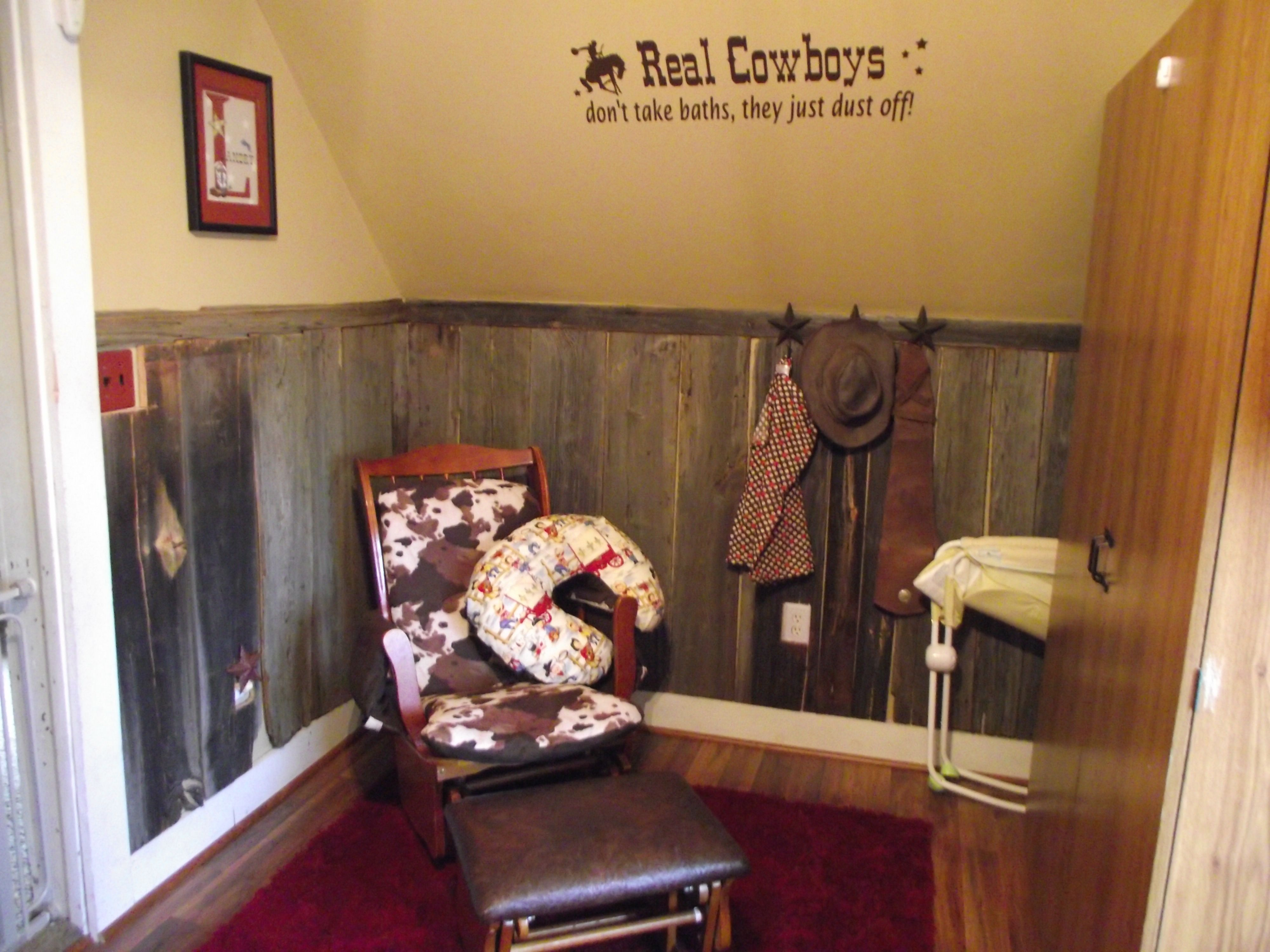 Cowboy Nursery Love The Leather Covered Glider