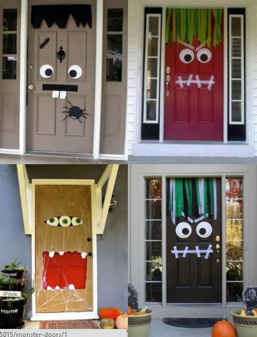 Camping Fun - Bricolages dautomne à faire avec vos petits monstres - Halloween Door Decoration Ideas