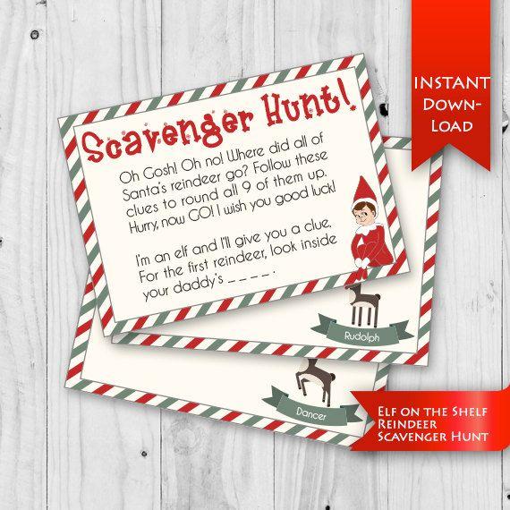 Christmas Gift Scavenger Hunt Riddles: Elf Idea - Scavenger Hunt