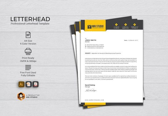 Letterhead Template @creativework247 Stationery Design - letterhead template
