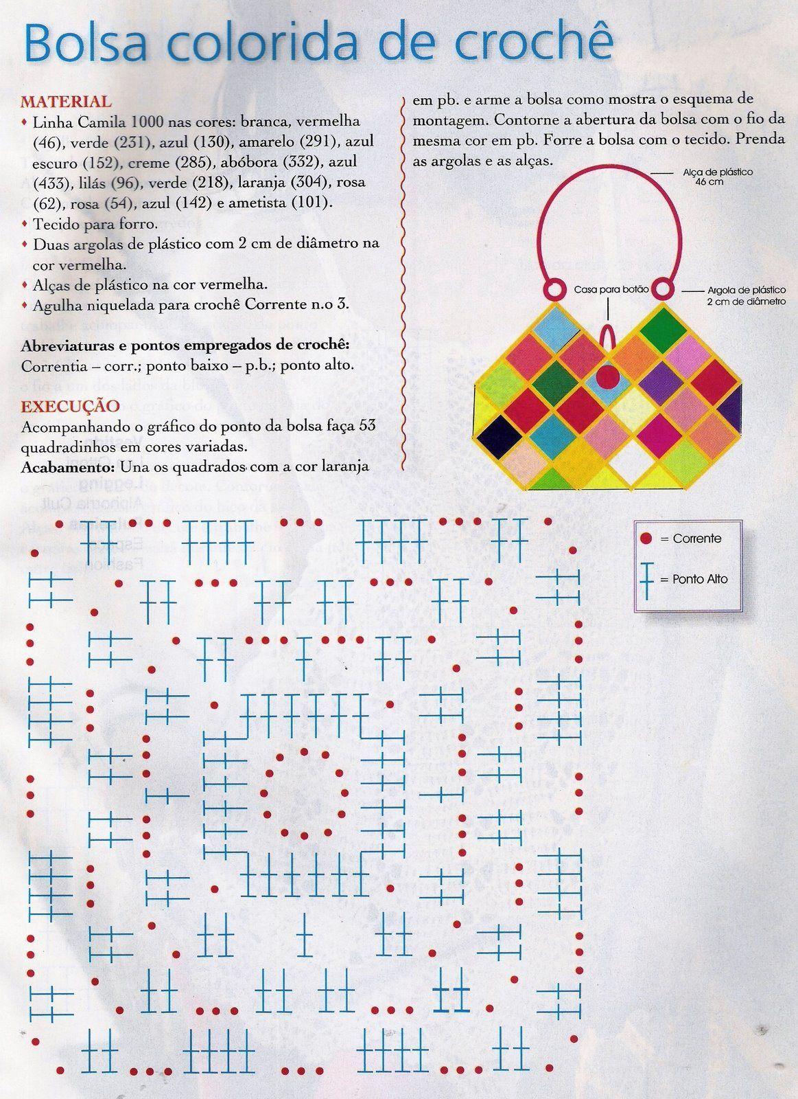 Increíble Los Patrones De Ganchillo Bolsa Colección de Imágenes ...