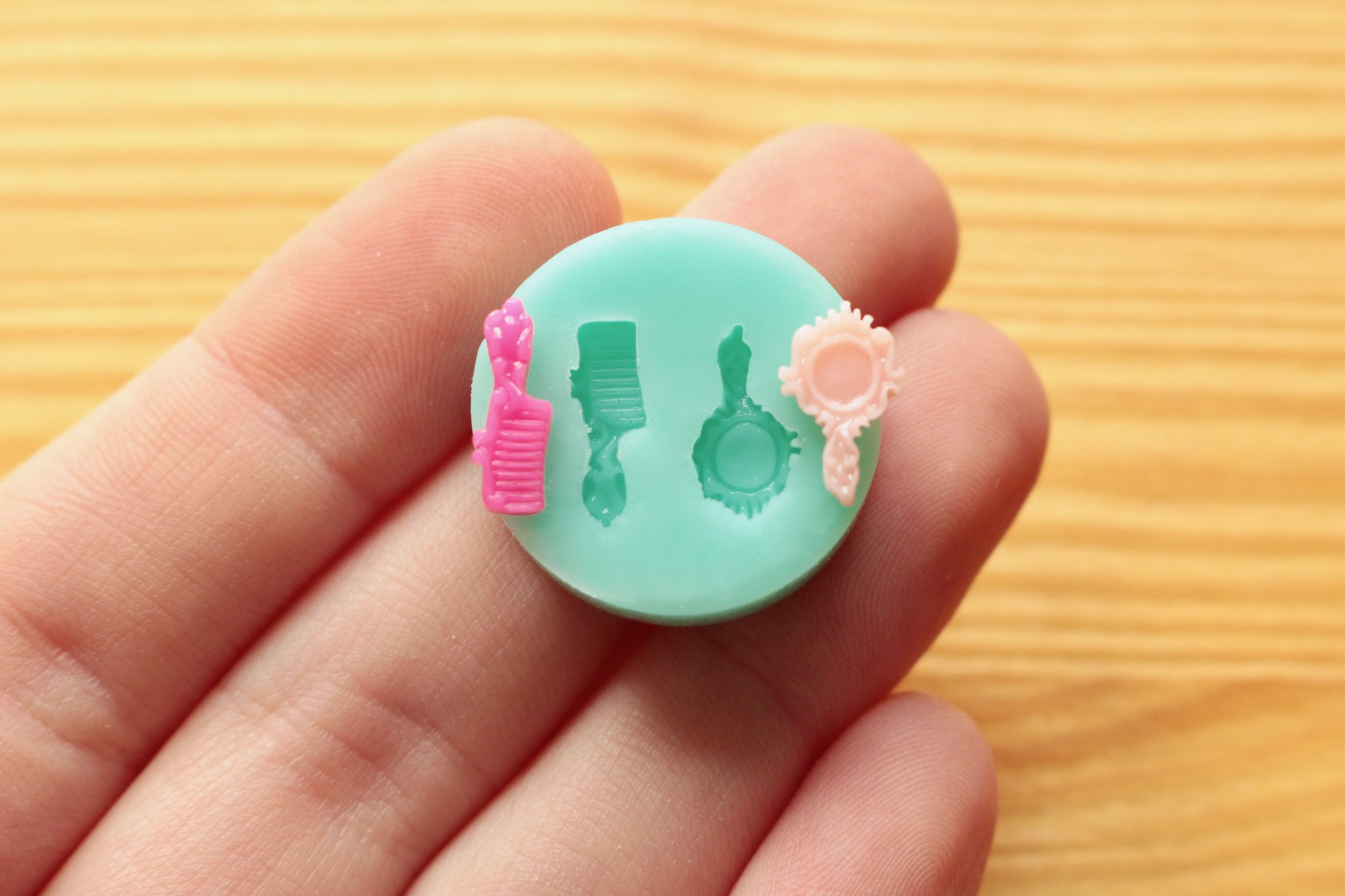 Round Cupcake base silicone mold for polymer clay food materials epoxy resin