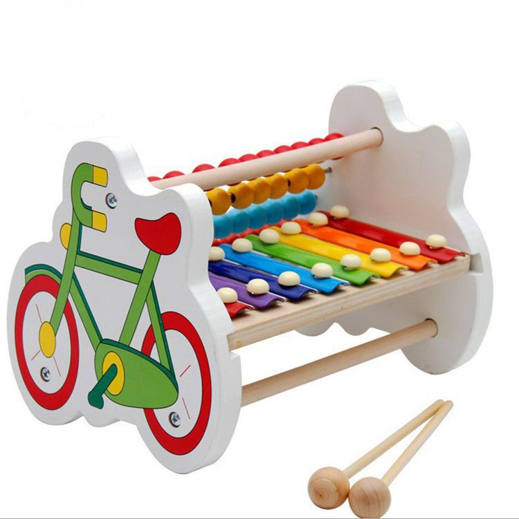 Musical Instrument Kids Toy Sand Hammer Wood Color Children/'s Educational Hot LS