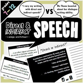 direct and indirect speech english speach language direct indirect speech indirect. Black Bedroom Furniture Sets. Home Design Ideas