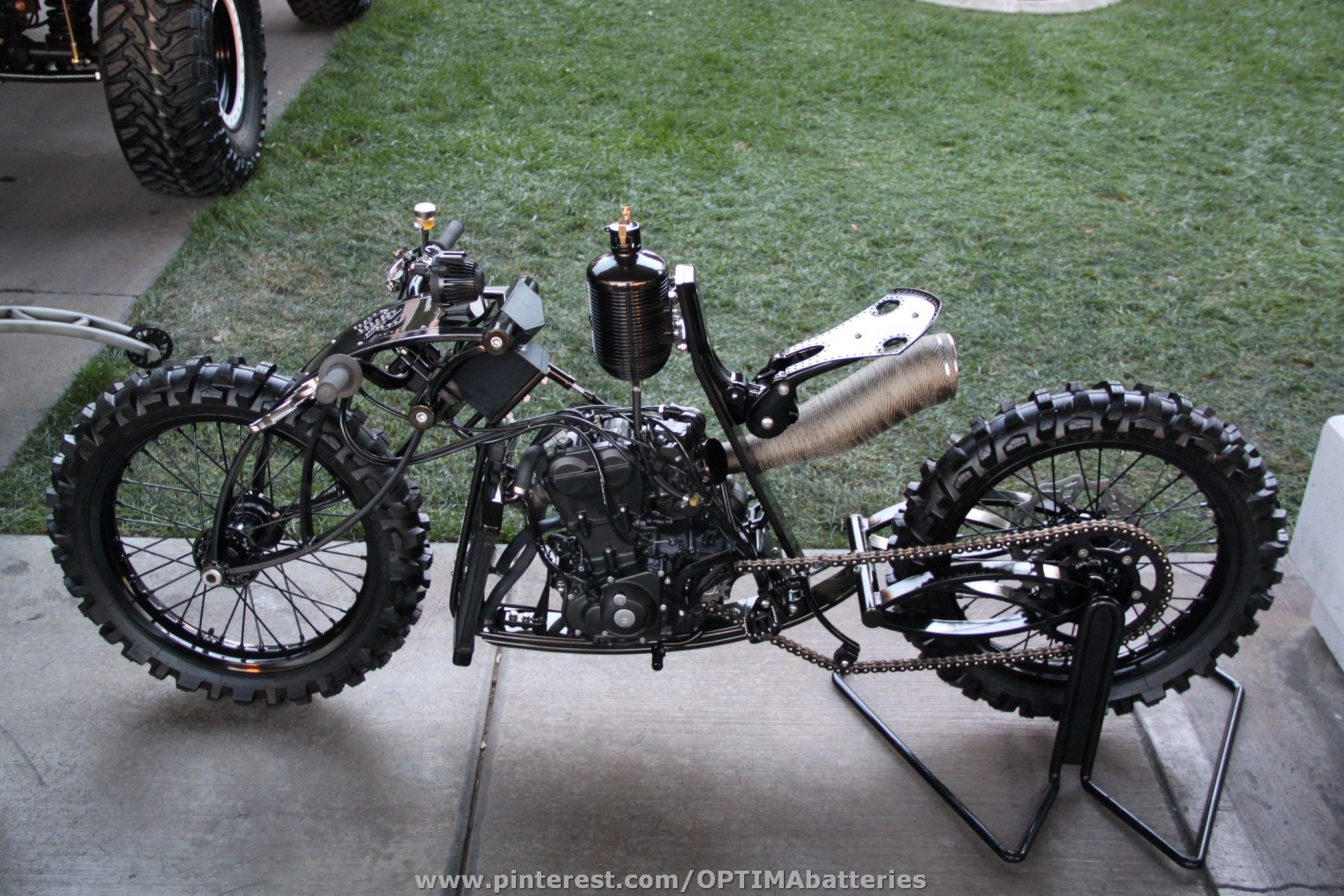 From SEMA 2012 Custom Motorcycle The Right Colors Would Make This VERY Steampunk