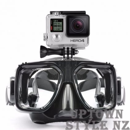 Diving Mask with GoPro 4 Camera Mount