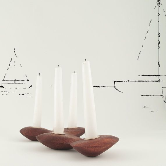 Wooden candle holder  with organic shape , eco friendly  , ghibli on Etsy, £99.00
