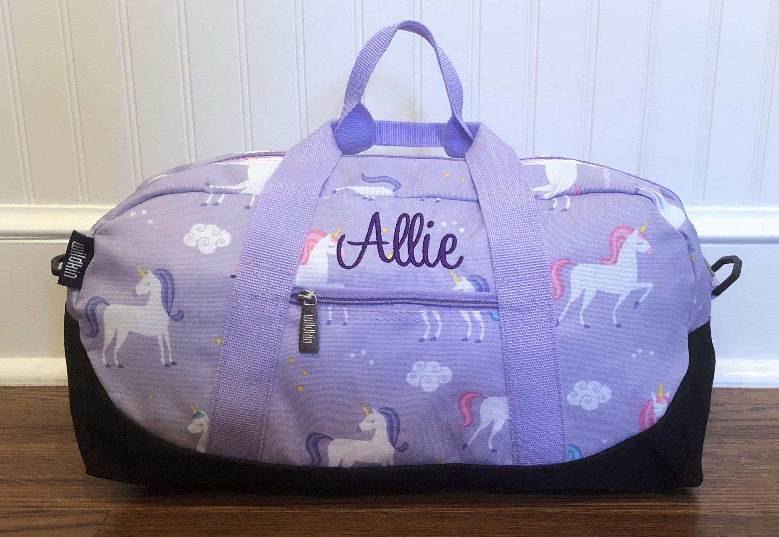 Travel Bag Custom Girls Duffel Bag Girls Overnight Bag Carry On Bag Baby Shower Gift Tween Girl Gift Sleepover Bag Girls