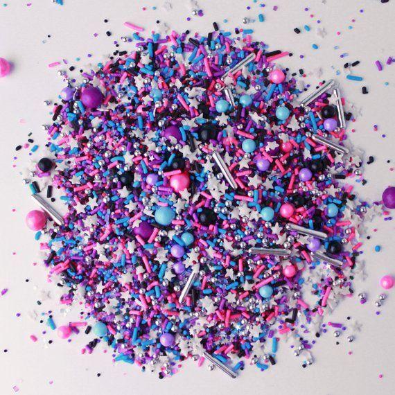 Milky Way Sprinkle Mix, Galaxy Sprinkles, Galaxy Cake Topper, Purple Sprinkles, Galaxy Candy,... Milky Way Sprinkle Mix, Galaxy Sprinkles, Galaxy Cake Topper, Purple Sprinkles, Galaxy Candy, Pink and Purple Sprinkles,