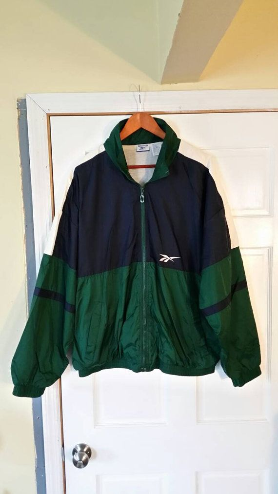 Vintage 90's Reebok Windbreaker Jacket. Men's Size XL
