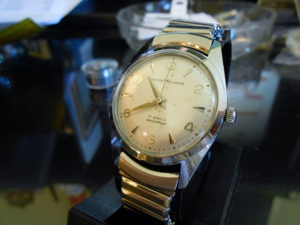 vintage omega movement mens watch croton