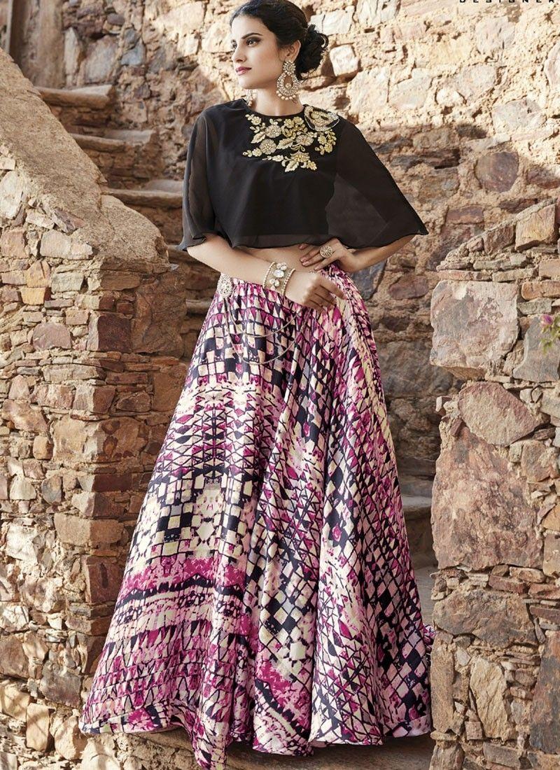 77da700b9414f4 Shop Online Black Faux Georgette  AchkanSalwarSuit  Chennaistore.com ...