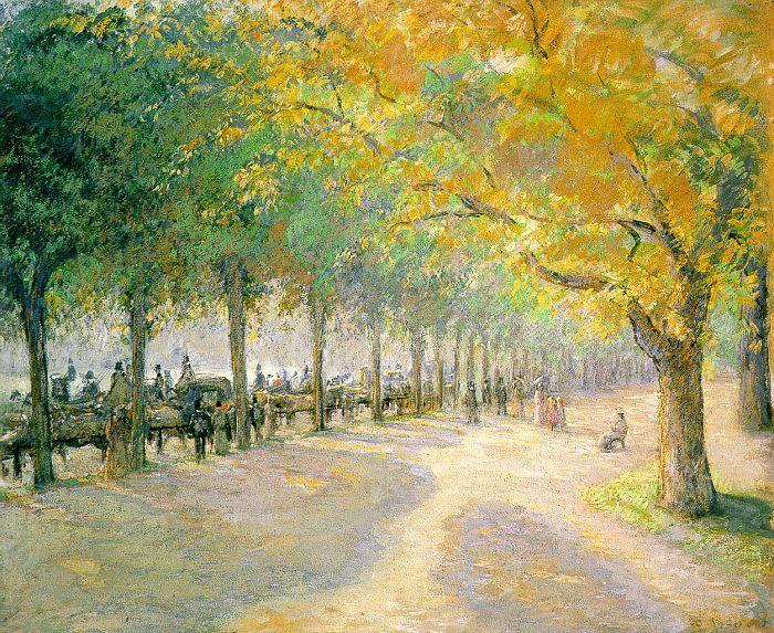 Camille Pissaro, Hyde Park, London, 1890