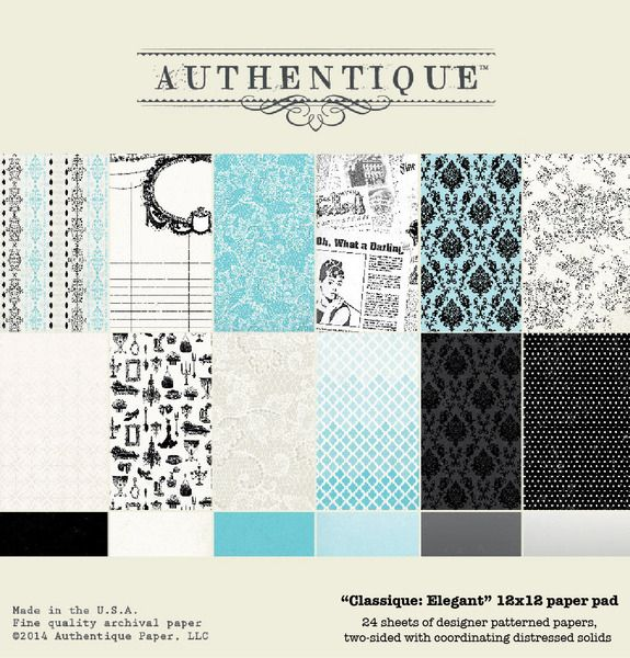 2 sheets Cruise Authentique Anchored 12x12 Scrapbook Paper