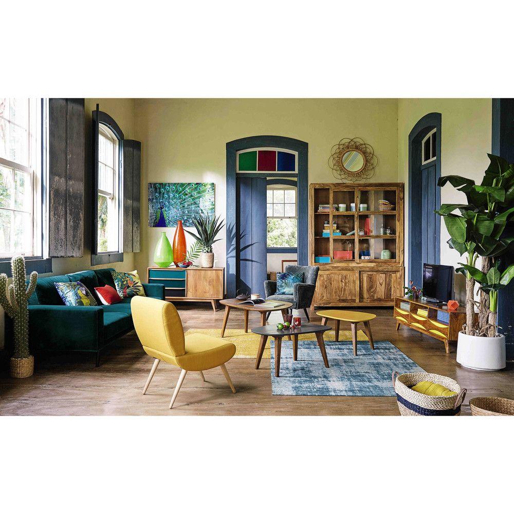 tv m bel im vintage stil aus moon dekorasyon fauteuil vintage mobilier de salon