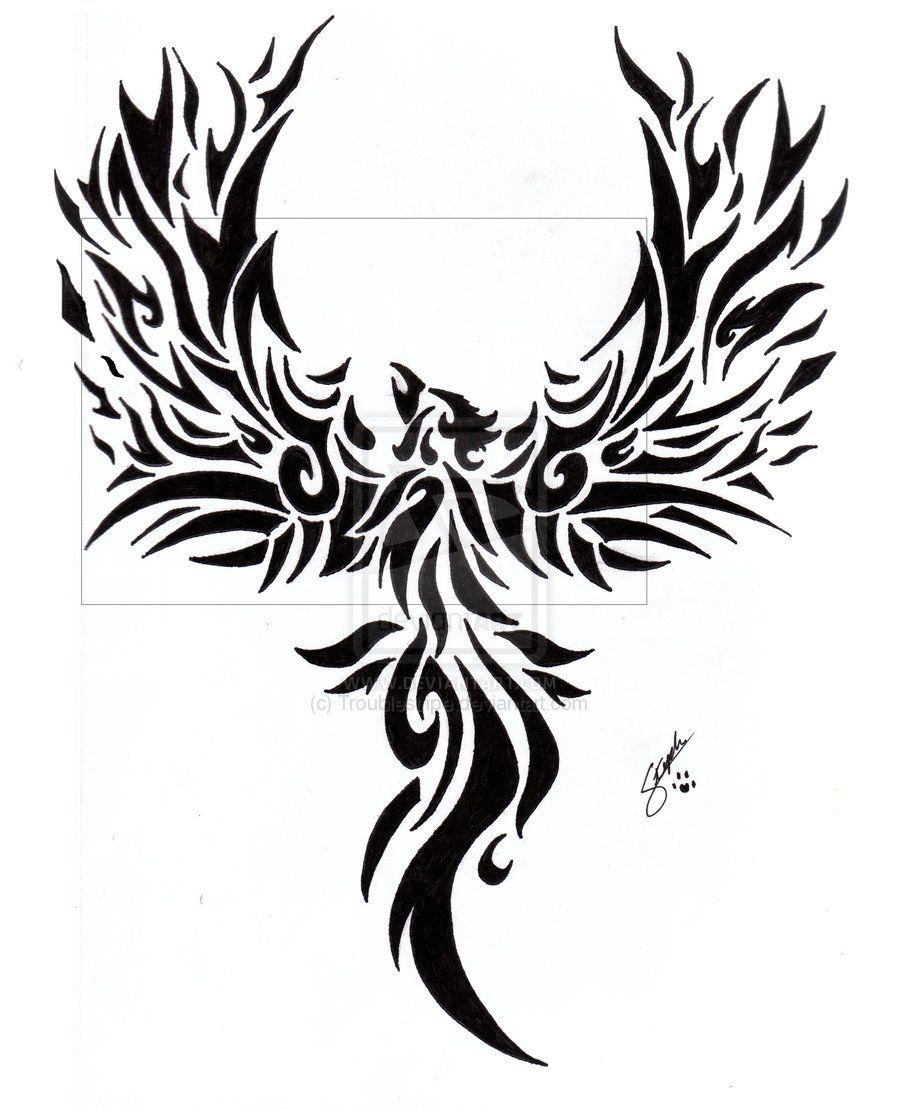 Phoenix tattoo for men - Fire Phoenix Tattoo Designs Fantastic Tribal Phoenix Tattoo Designs Images