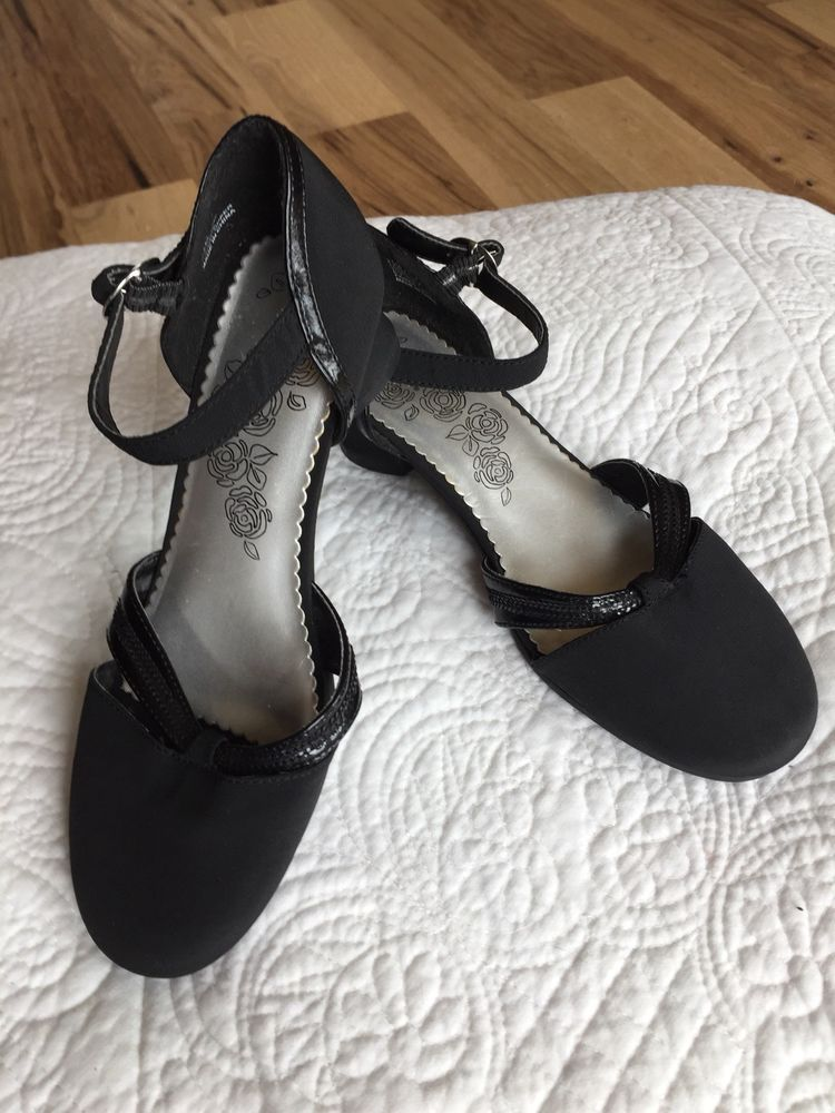 Stride Rite Girls Black Dress Shoes Size 2 5 Church Party Event