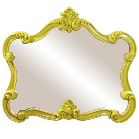 I pinned this Howard Elliott Candy Wall Mirror in Green from the - bemalte mobel romantischen motiven